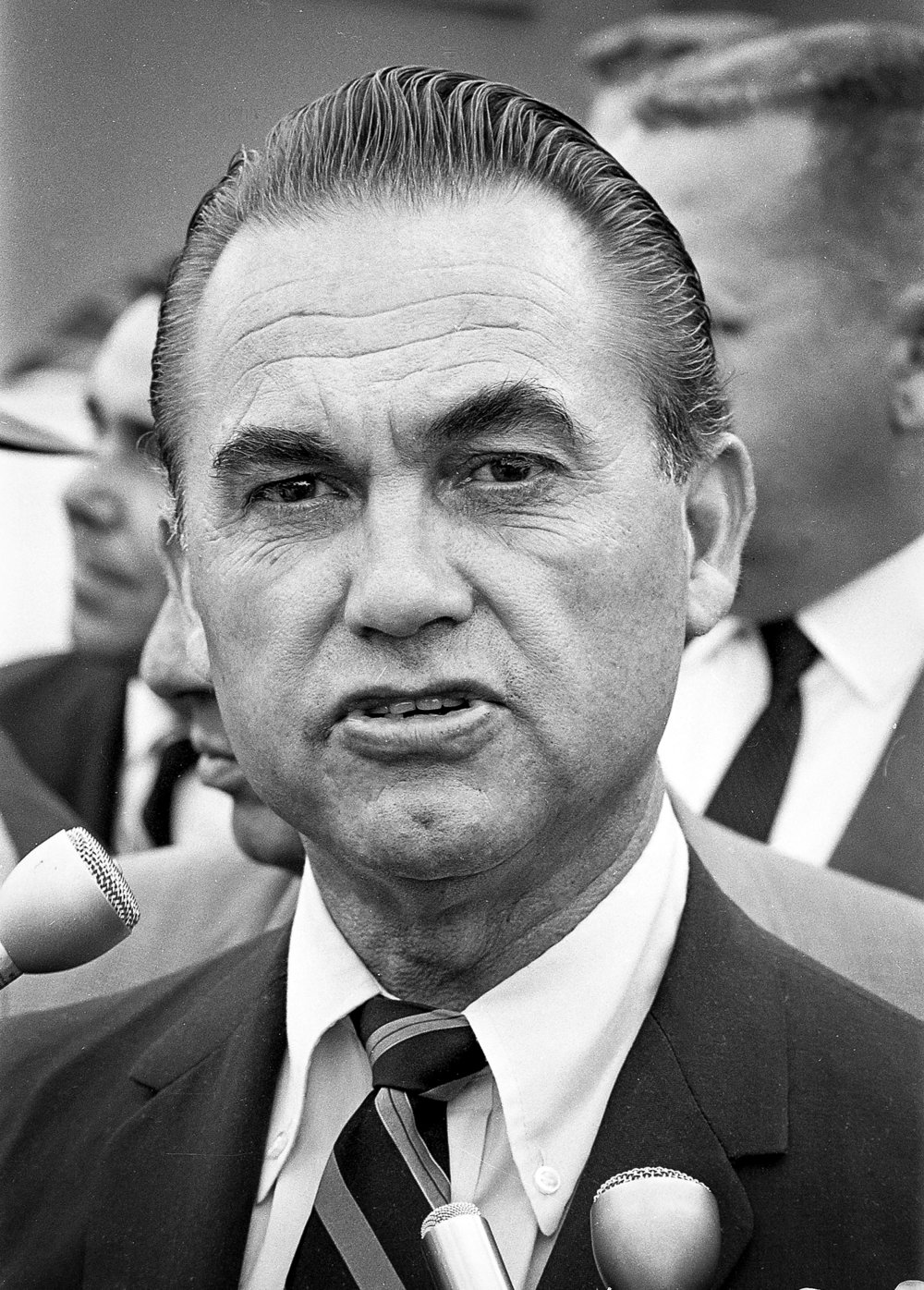 Former Alabama Gov. George Wallace makes a stop in Springfield Sept. 12, 1968 to campaign for president as independent. File/The State Journal-Register