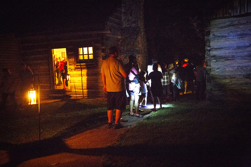 The annual candlelight walk through Lincoln's New Salem State Historic Site Friday Oct. 5, 2018, in Petersburg, Ill. [Rich Saal/The State Journal-Register]
