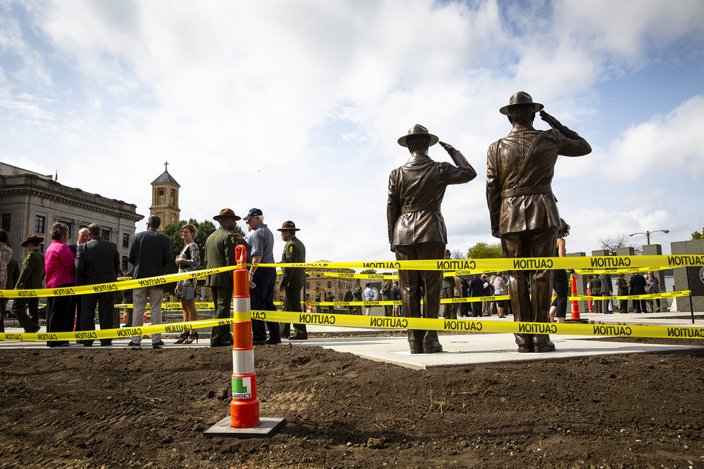The Illinois State Police Memorial Park dedication ceremony Tuesday, Oct. 2, 2018 at 615 W. Lawrence in Springfield, Ill. [Rich Saal/The State Journal-Register]