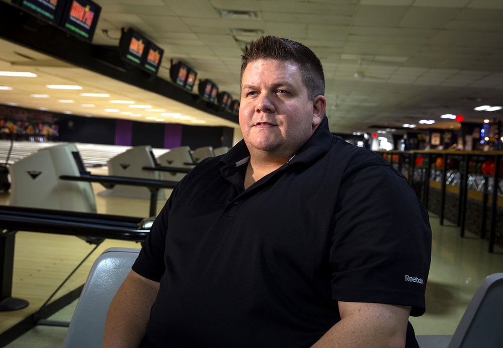 Bob Cole will be inducted into the Springfield Bowling Hall of Fame during a ceremony tonight at Northfield Inn Conference Center. His father, Al, who Bob bowled with often, will be inducted posthumously. Al Cole was killed in December as he tried to intervene in a physical confrontation between Andrew J. Brady and a woman. Bob Cole was photographed Thursday, Oct. 11, 2018 at King Pin Lanes in Springfield, Ill. [Rich Saal/The State Journal-Register]