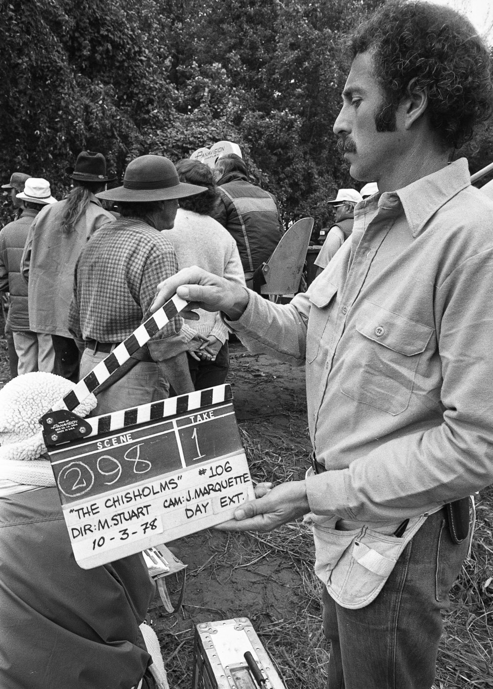 "Filming of the television mini series ""The Chisholms"" at New Salem State Historic Site, October 2, 1978. File/Bill Hagen/The State Journal-Register"