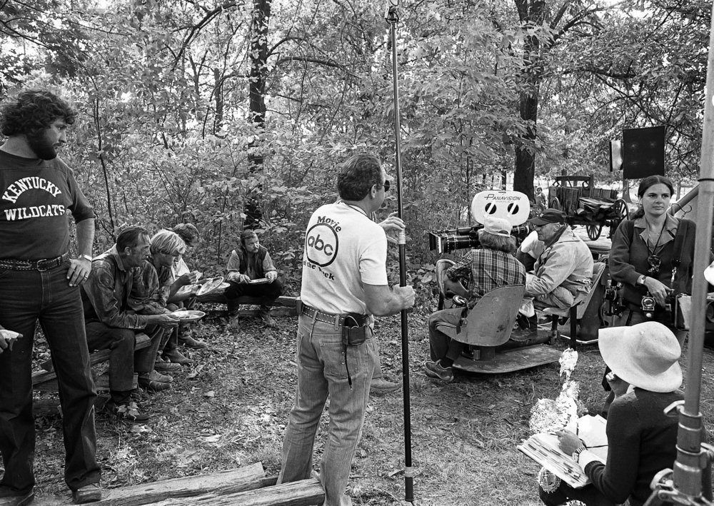 "Filming for the television mini series ""The Chisholms"" at New Salem State Historic Site, October 2, 1978. File/Bill Hagen/The State Journal-Register"