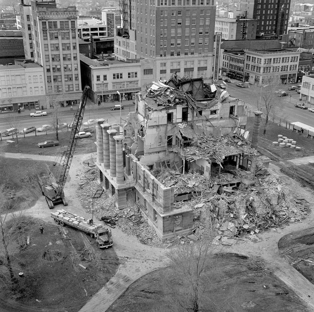 Demolition of the Old State Capitol underway in March 1966. File/The State Journal-Register