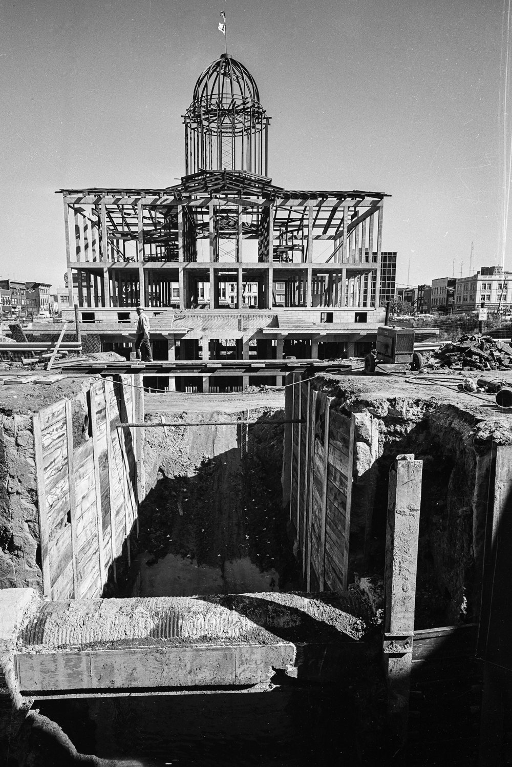 Construction of Old State Capitol, Aug. 31, 1967. Bill Hagen/The State Journal-Register