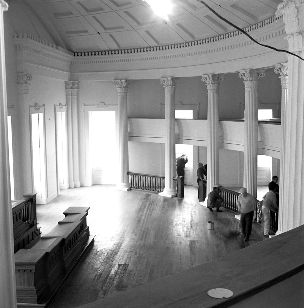 Old State Capitol State Historic Site preparations in the Hall of Representatives before official opening ceremony on Dec. 3, 1968. Photographed Dec. 2, 1968. File/The State Journal-Register