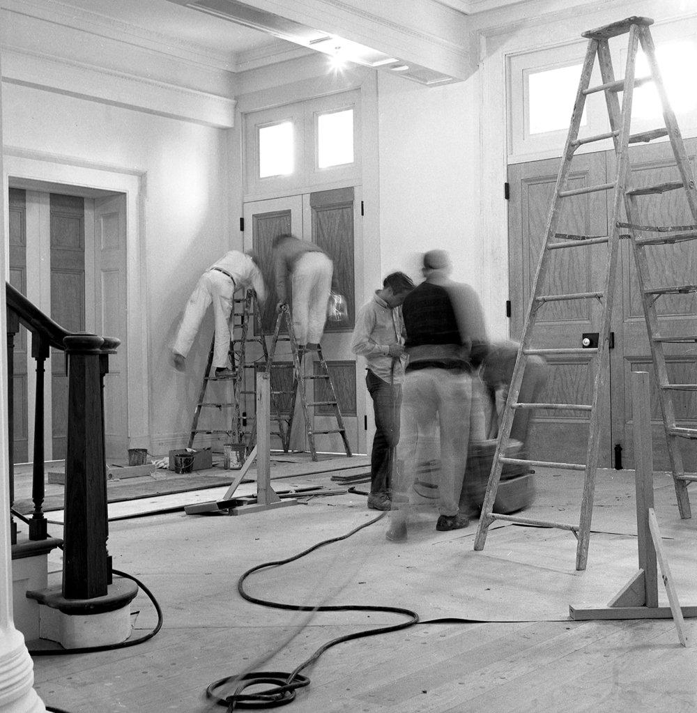 Old State Capitol State Historic Site preparations at the main entrance before official opening ceremony on Dec. 3, 1968. Photographed Dec. 2, 1968. File/The State Journal-Register