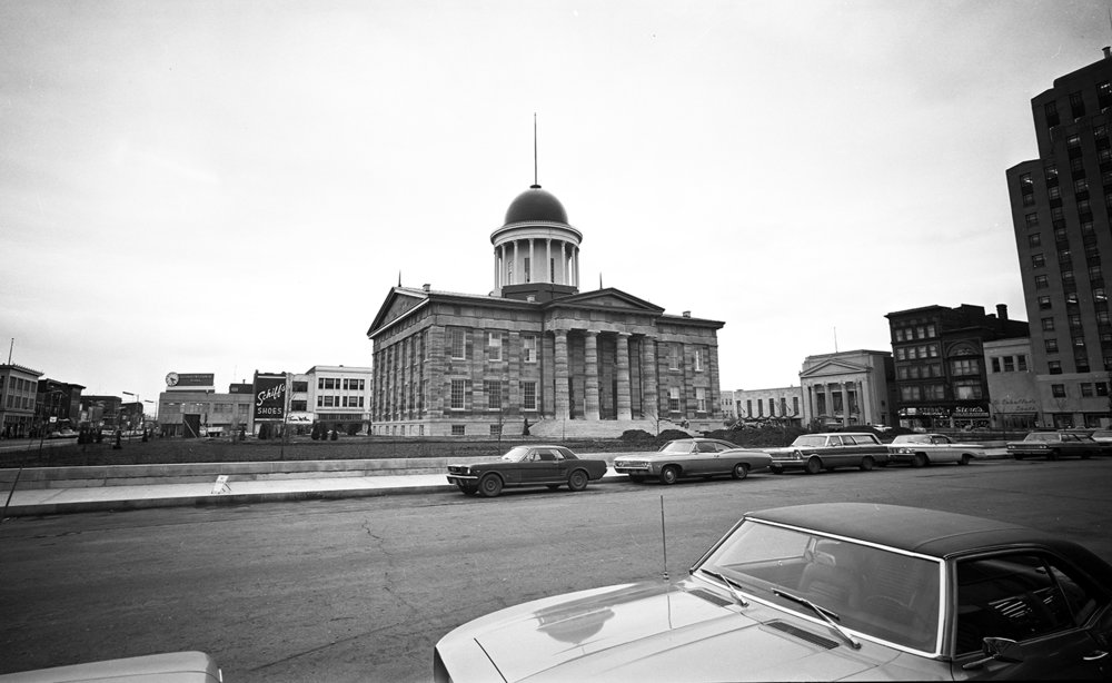 The restored Old State Capitol State Historic Site Dec. 18, 1968. Bill Hagen/The State Journal-Register