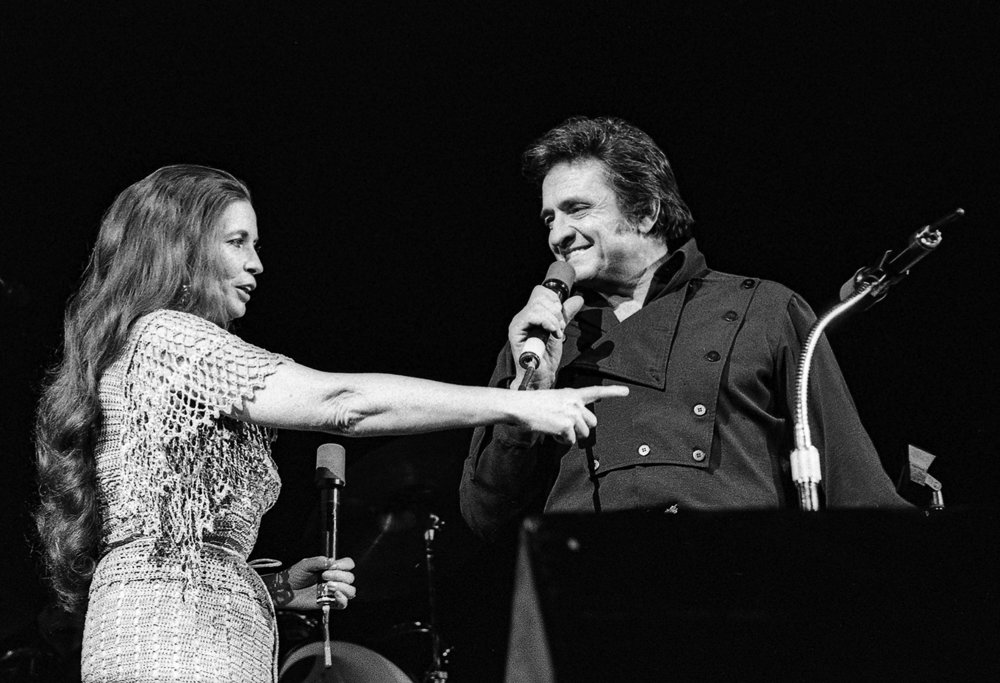 Johnny Cash and June Carter in concert at the Prairie Capital Convention Center February 3, 1980. File/David Klobucar/The State Journal-Register