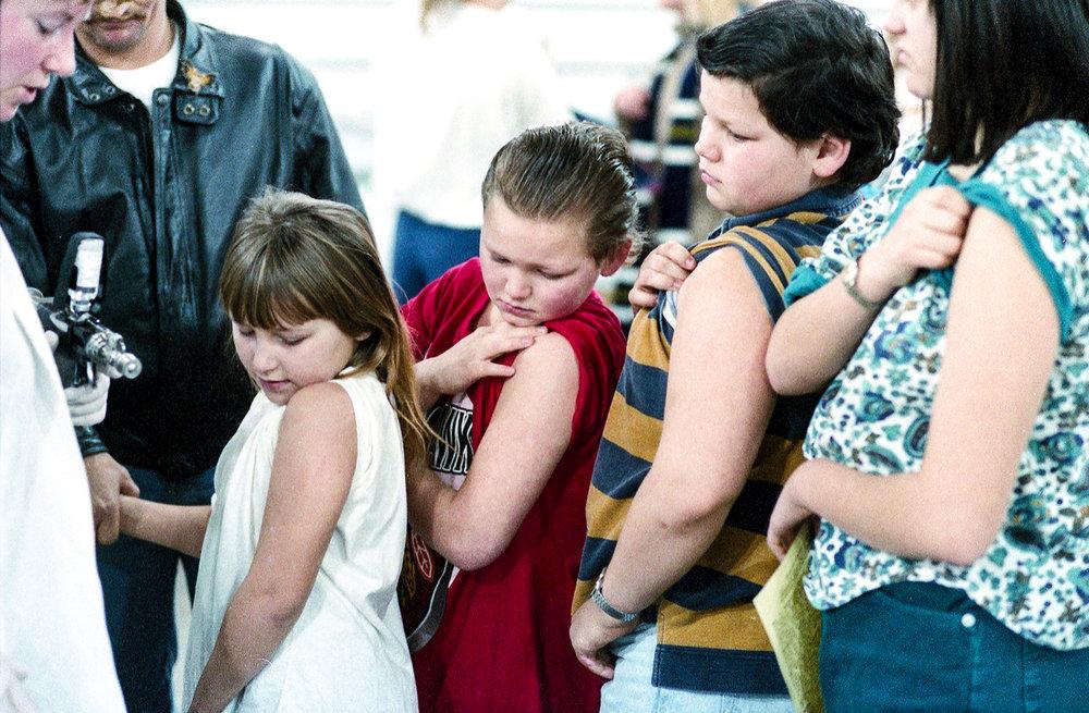 Mass immunization for bacterial meningitis held Feb. 5, 1994 in the Livestock Center on the Illinois State Fairgrounds. File/David Spencer/The State Journal-Register