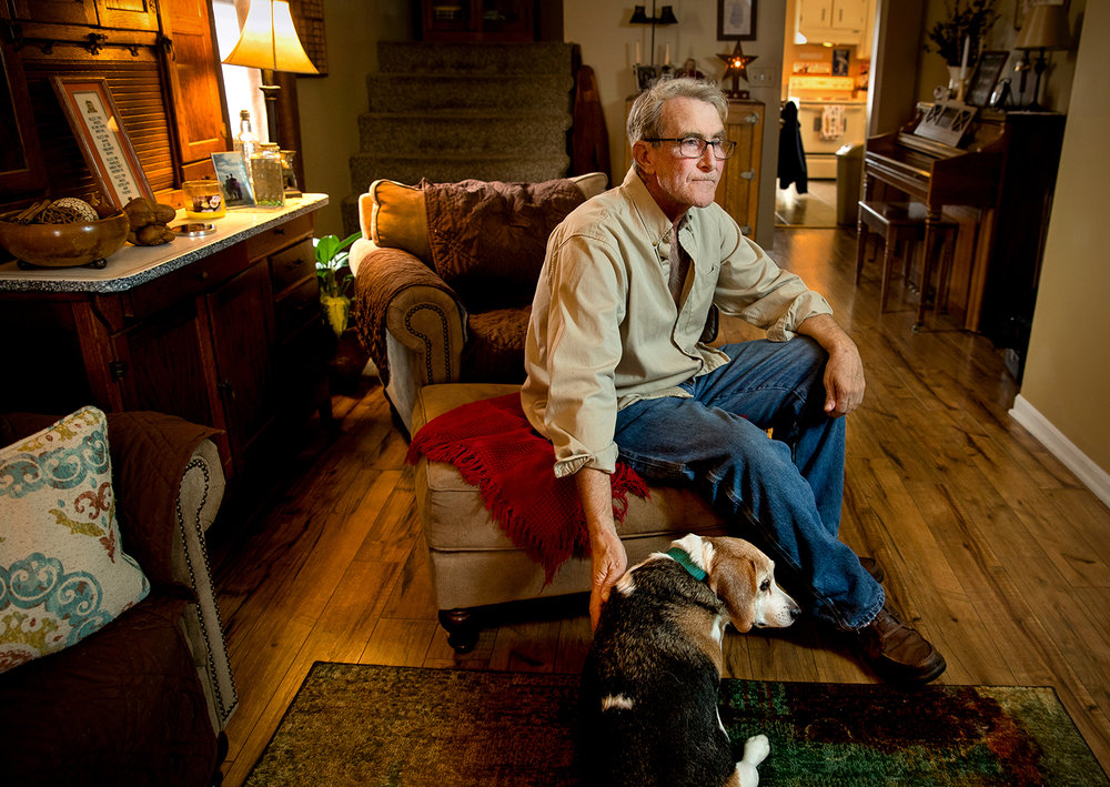 Scott Wilbur, 61, waited three months for his application to the state's medical-marijuana pilot program to be approved. Wilbur said he had hoped to benefit sooner from the appetite-enhancing and anxiety-reducing properties of legal cannabis during treatment for nasal cancer that was diagnosed in mid-November. [Ted Schurter/The State Journal-Register]