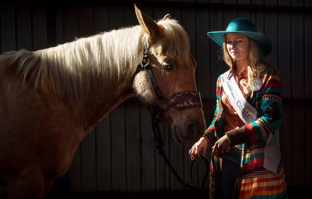 Kelsey Hallin warms up her horse Gus, an American Quarter Horse, during the 2019 Illinois Horse Fair at the Illinois State Fairgrounds Friday, March 1, 2019. Event organizers expect up to 5,000 horse owners and enthusiasts to attend the three day event that includes breed and sport demonstrations, a Stallion Row and Parade, a Queen contest and All-Youth Horse Judging Trials. [Ted Schurter/The State Journal-Register]