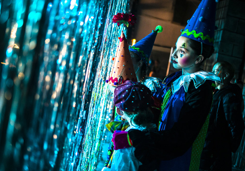 "Emma Hoagland, 12, waits backstage with her fellow ice skaters playing the part of the clowns during the ""Big Top Fantasies"" section of the Springfield Figure Skating Club's 2019 Spotlight on Ice - Ice Fantasies during the final dress rehearsal at the Nelson Center, Friday, March 22, 2019, in Springfield, Ill. The 2019 Spotlight on Ice will run have two shows on Saturday at 2 p.m. and 7 p.m. and then one show on Sunday at 2 p.m. at the Nelson Center. [Justin L. Fowler/The State Journal-Register]"