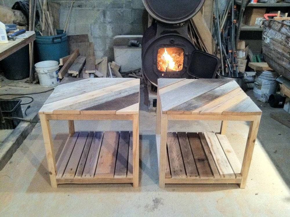 Barn & Pallet Wood End Tables