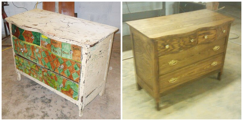 BeforeAfterDresser - Choosing Antique Furniture For Restoration — Revival Woodworks
