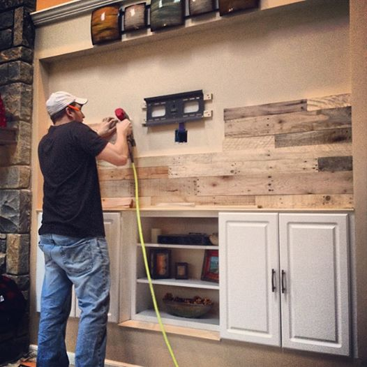 Diy Pallet Wood Wall Revival Woodworks