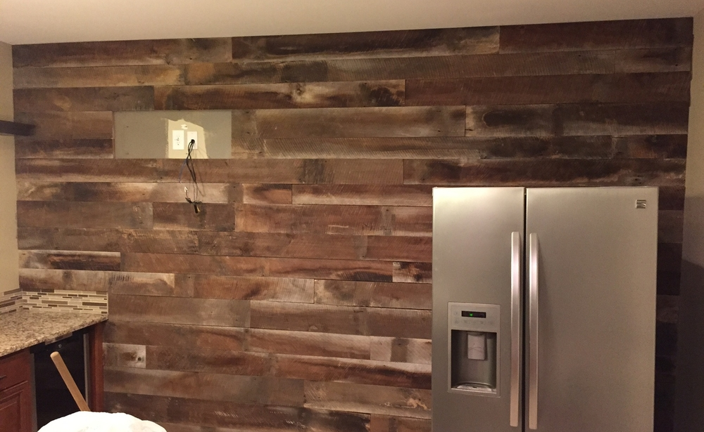 Want to see more reclaimed wood walls, bars, kitchen islands, and fixtures?  Click the button below to Check out our portfolio of reclaimed work! - Reclaimed Walls €� Revival Woodworks