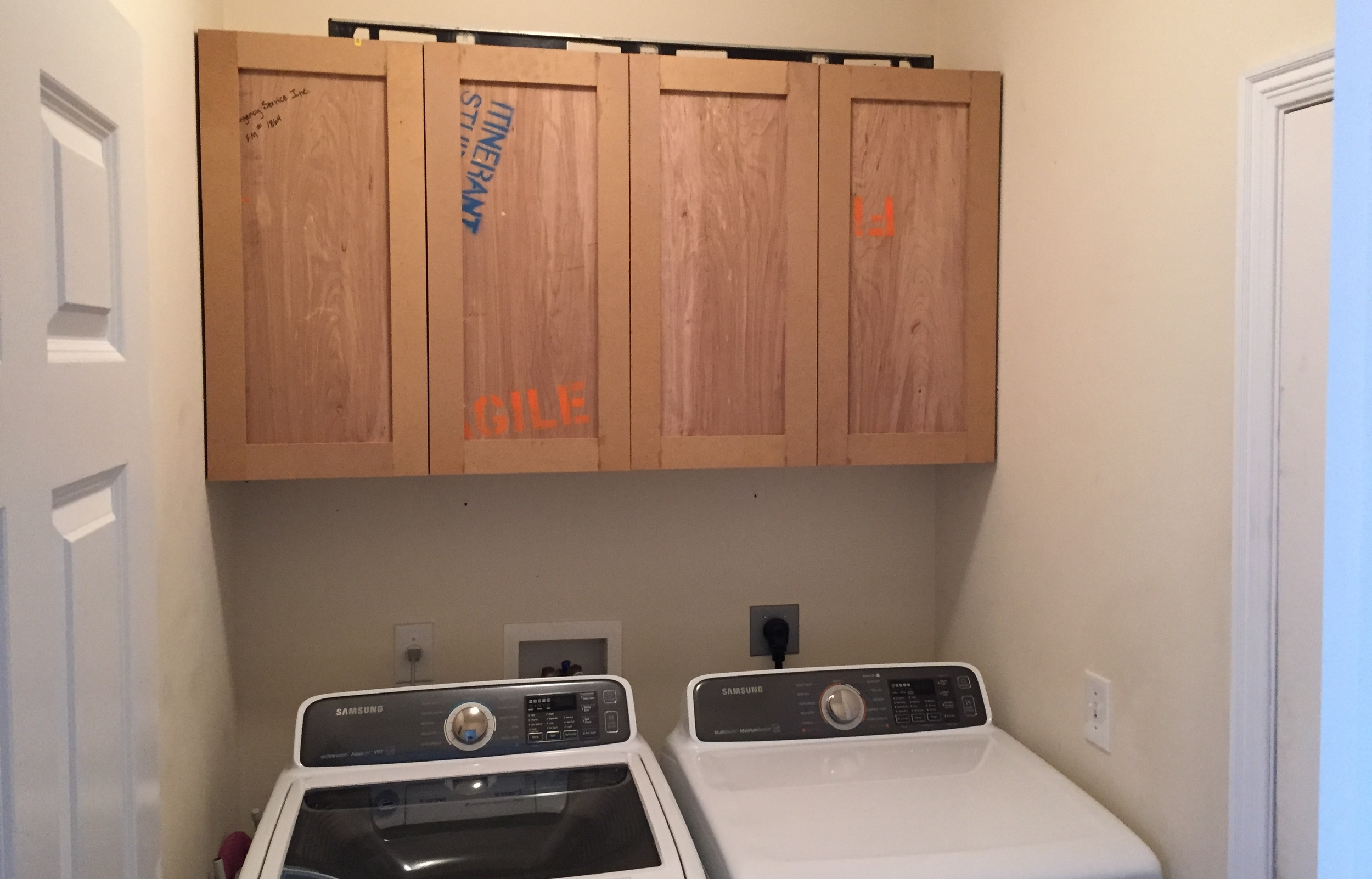 How To Build Upper Cabinets   Laundry Room Makeover