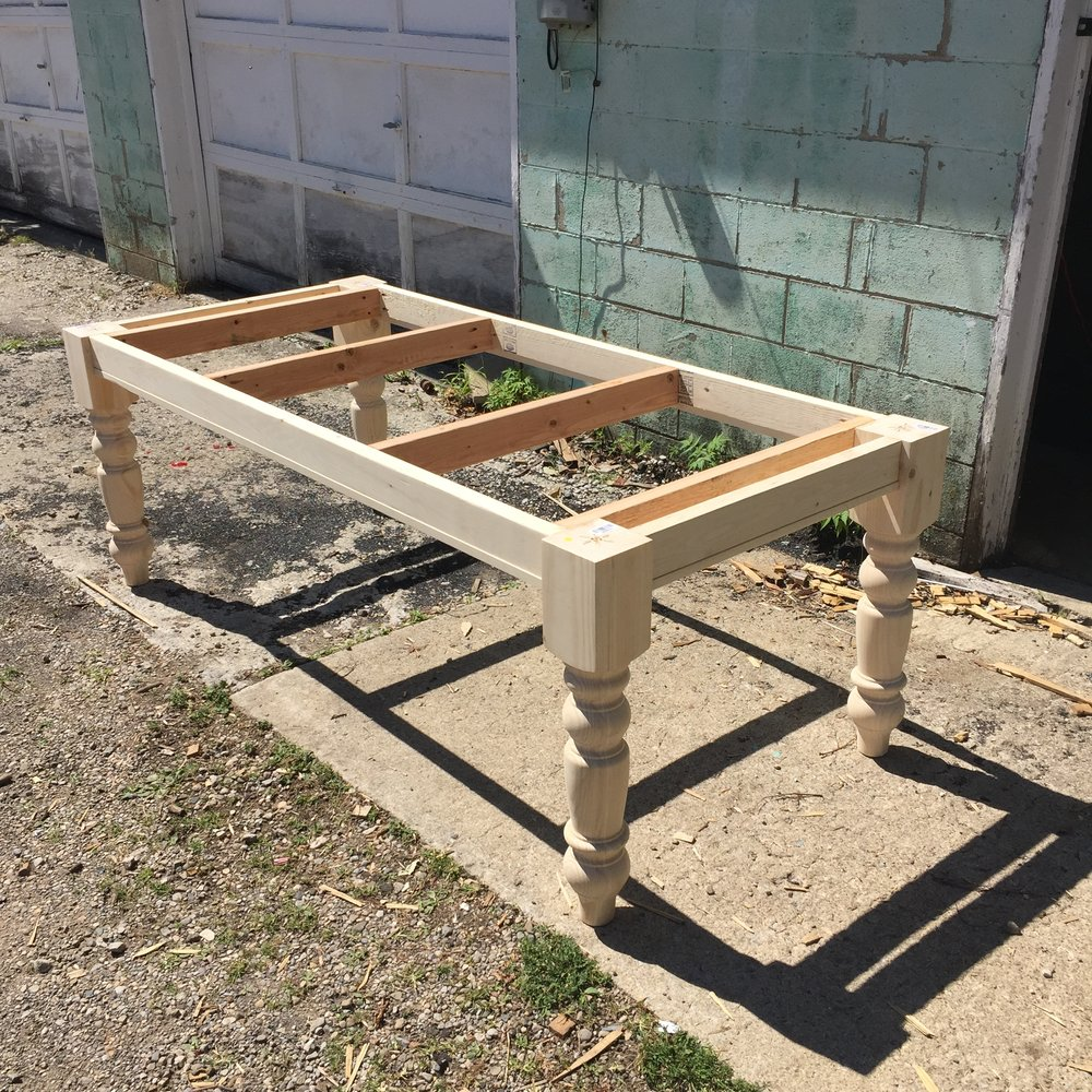 Farmhouse Table Frame with added support.