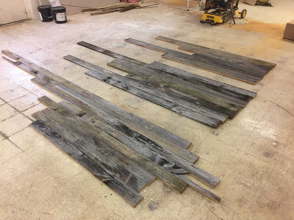 "From left to right 4"", 5"", and 6'"" wide boards. The ends have not been cut square yet."