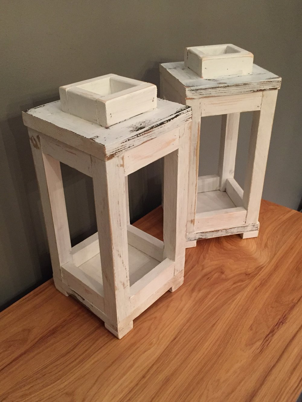 Reclaimed Wood Candle Lanterns