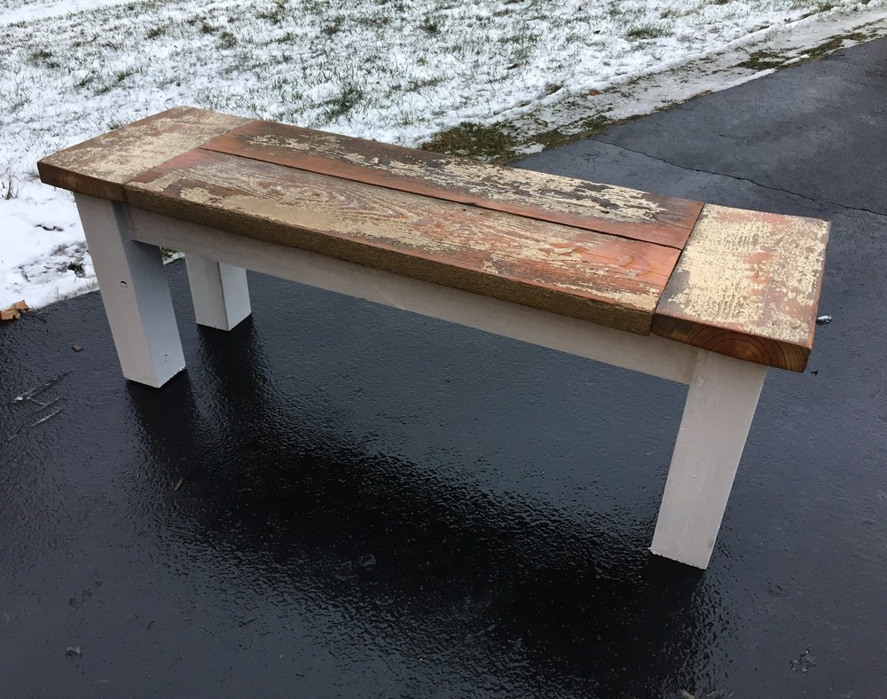 Husky Farmhouse Bench -  Get The Plans!
