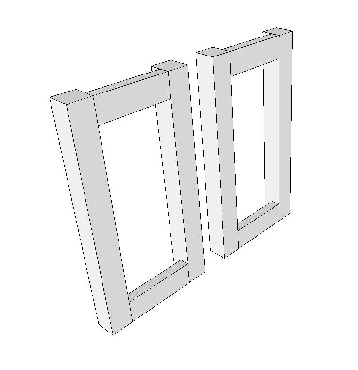 Step 1 - Assemble the lantern sides