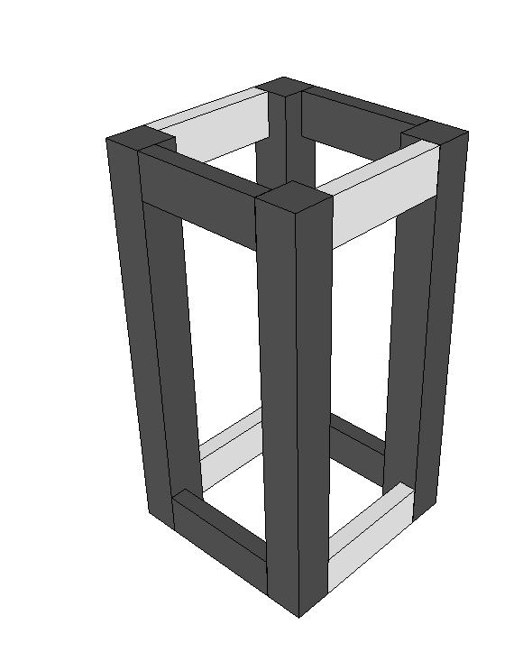 "Step 2 - Build the lantern ""box"""