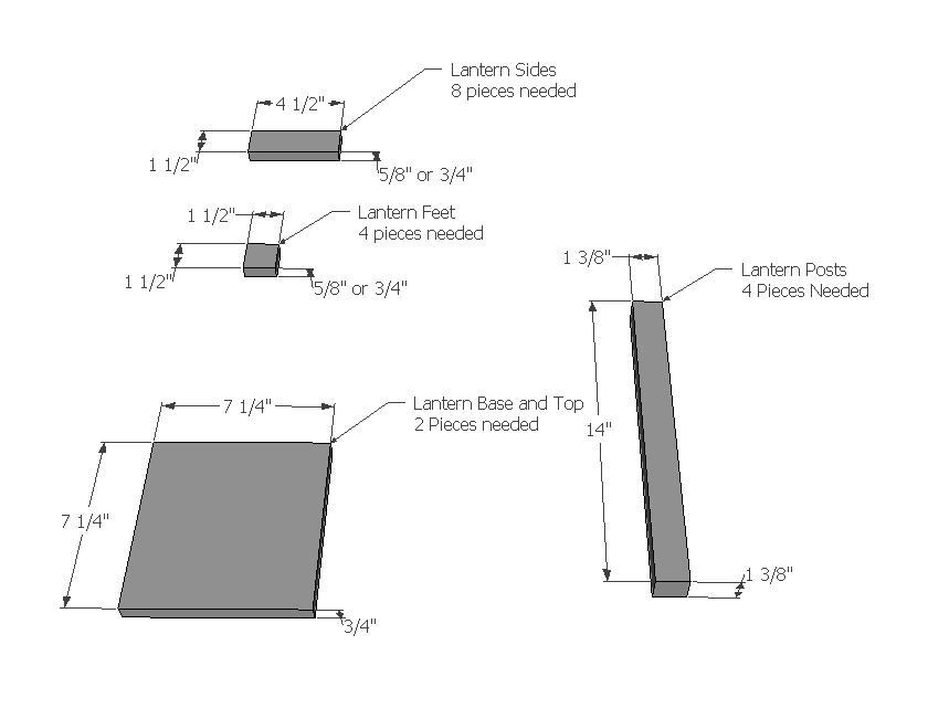 Lantern Parts List