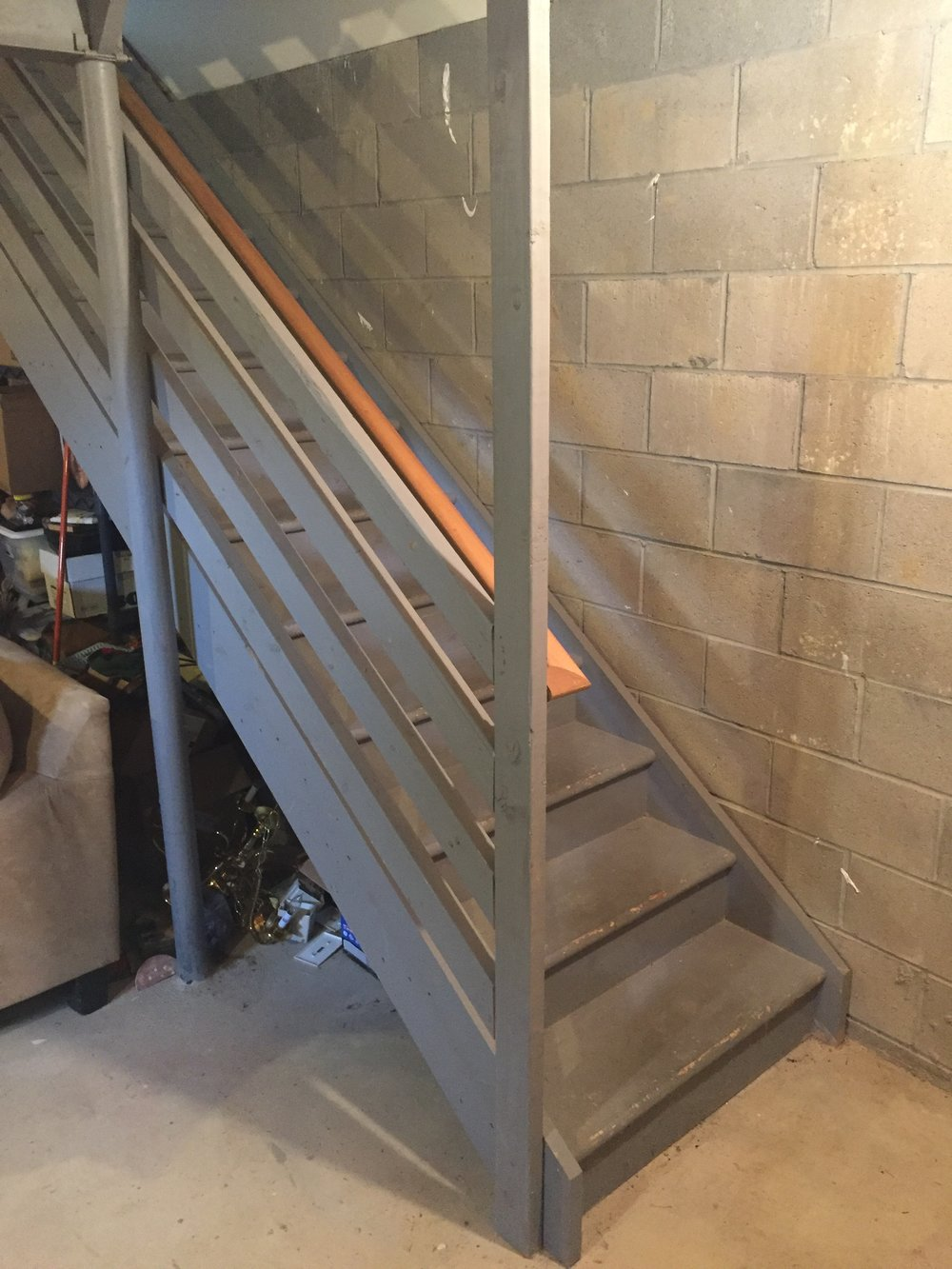 Lighting Basement Washroom Stairs: DIY Basement Stair Transformation