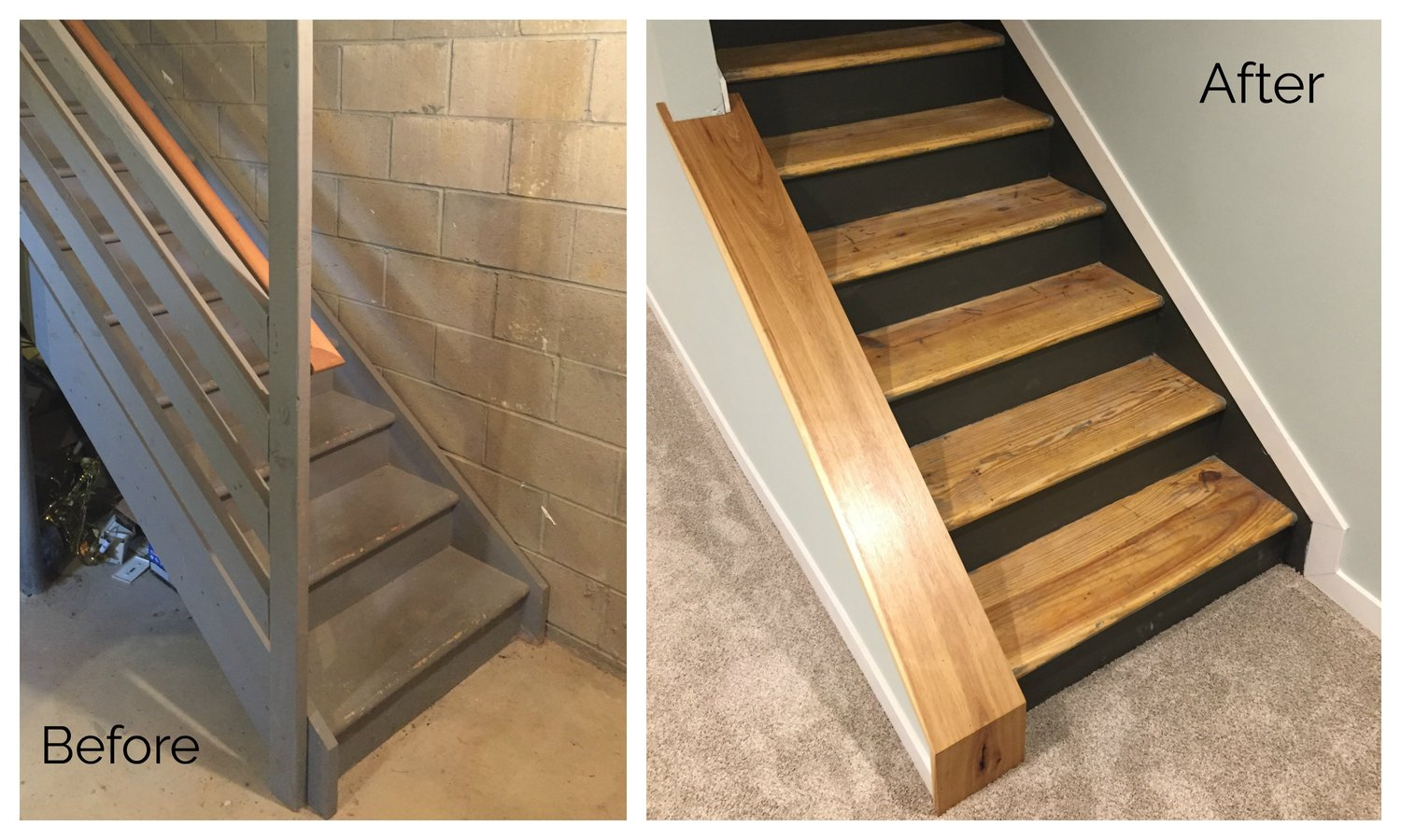 Fantastic Staircase Remodel - DIY Basement Stair Transformation — Revival  WY77