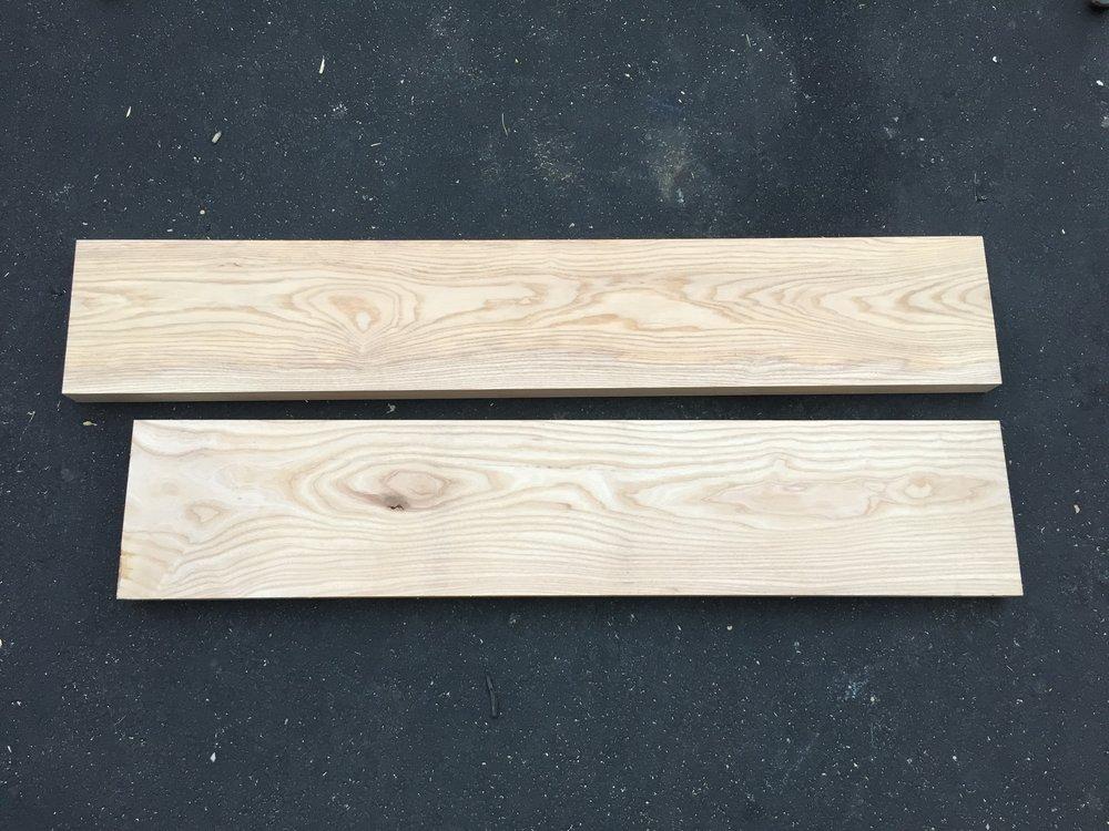 1 -Scrap Ash wood planks.JPG