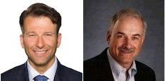 Microsoft's Althoff (l.) and IBM's LeBlanc (r.)have similaritineraries for March...
