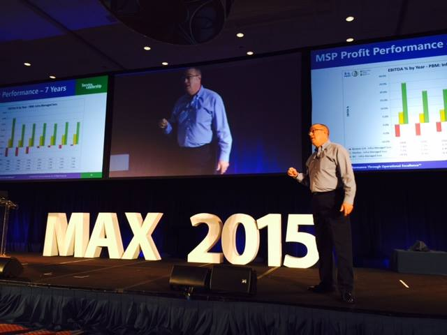 Service Leadership Inc. CEO Paul Dippell at LogicNow's Max Conference.