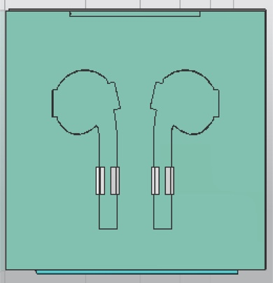 Apple Earbud Precise Cutouts & Tabs for Positioning