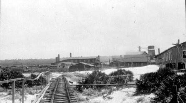 The mill of Buckman and Prichard, Inc. in Mineral City. Courtesy of the    State Archives of Florida, Florida Memory