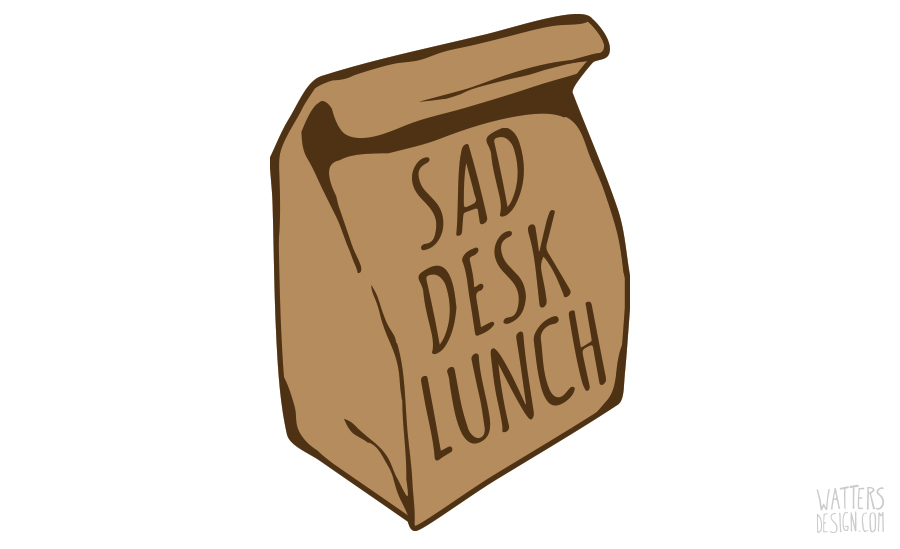 "Why You Need To Avoid Those All-Too-Frequent ""Sad Desk Lunches"""