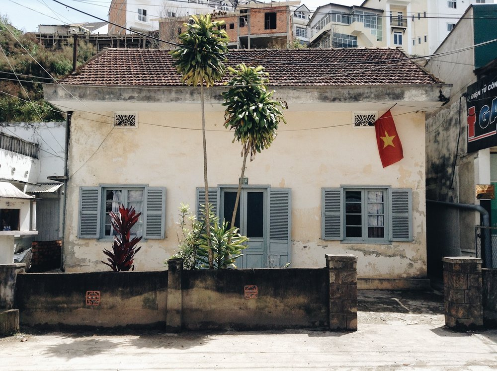 Colonial building in Da Lat, Vietnam