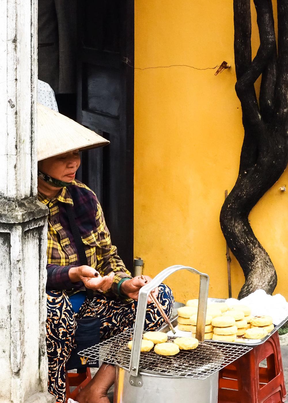 Sweet potato cakes in Hoi An