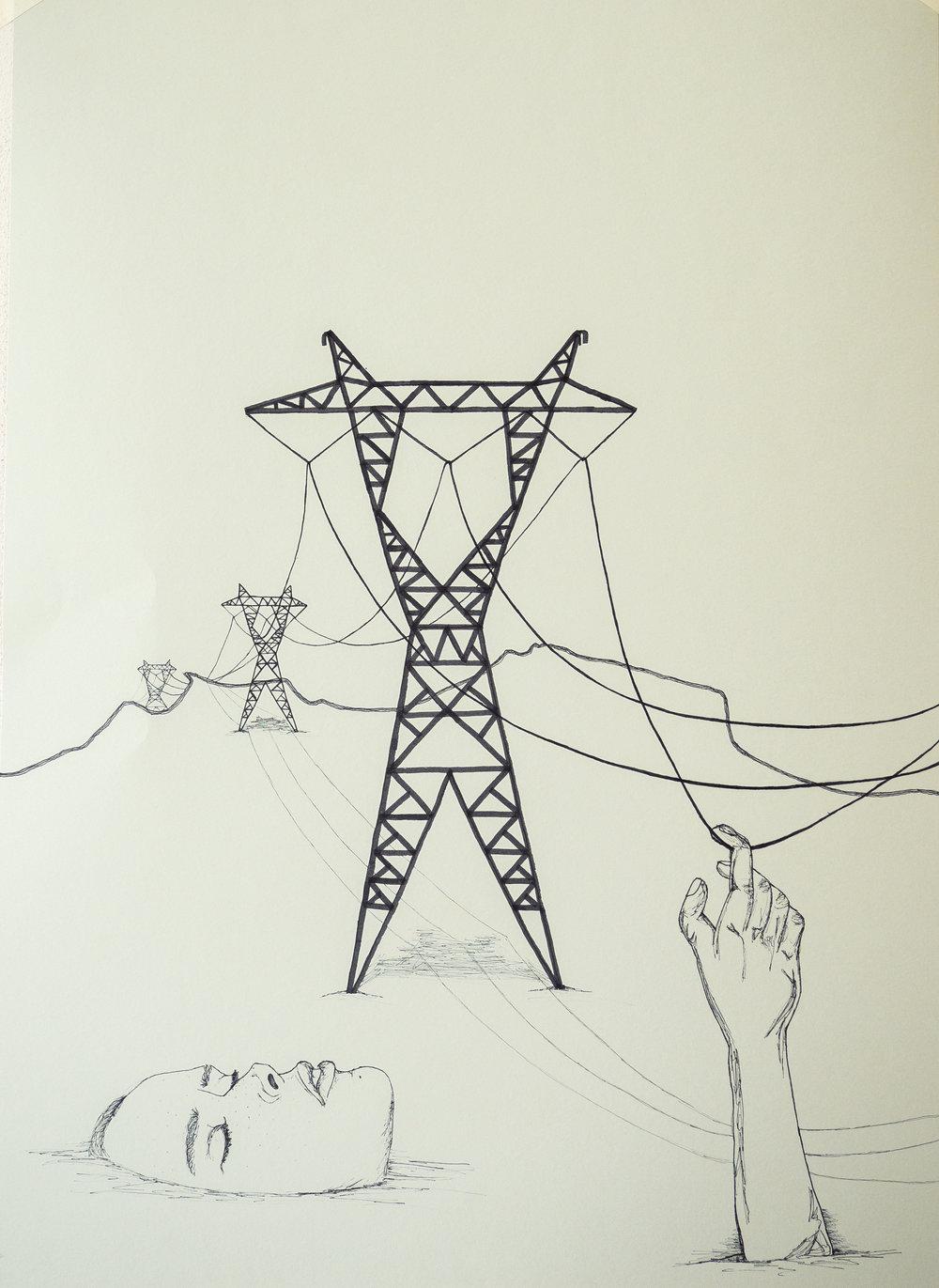 "conduction     ""the transmission of impulses along nerves""   July 2016"