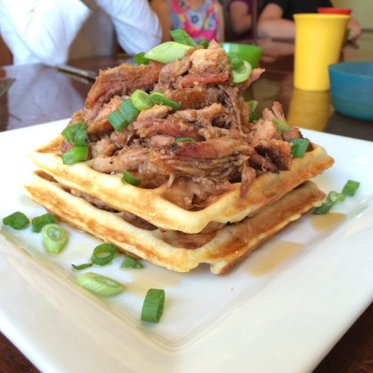Smoked Pulled Pork Waffels
