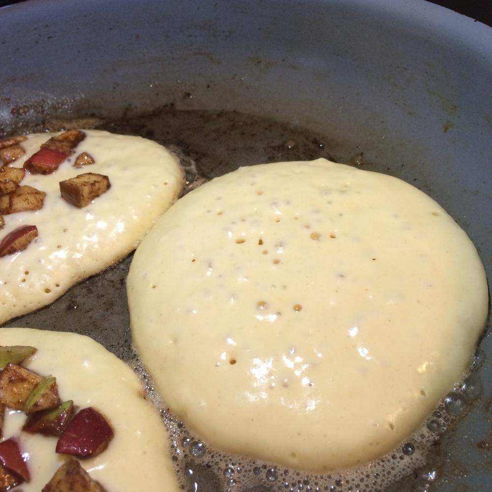 Pancakes Cooking, Apple Crisp Pancakes