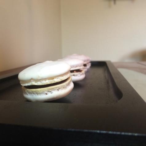 Raspberry Chocolate Macaron