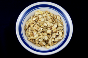 Pumpkin, Pumpkin Seeds, Roasted Pumpkin Seeds, Blue Bowl