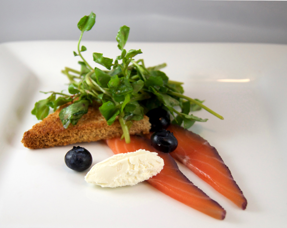 Gin and Blueberry Salmon Gravlax