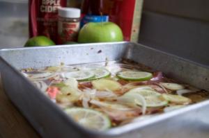 Crispy Cider Pork Belly Lettuce Wraps