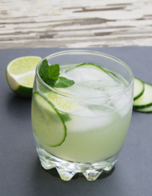 Minted Cucumber and Gin Gimlet Cocktail