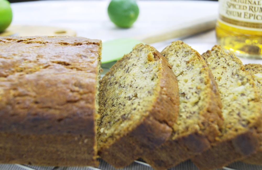 Drunken Lime Banana Bread