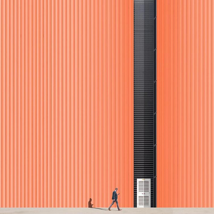 Between the lines (orange)