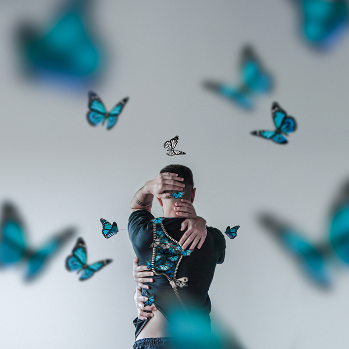You Give Me Butterflies (blue)
