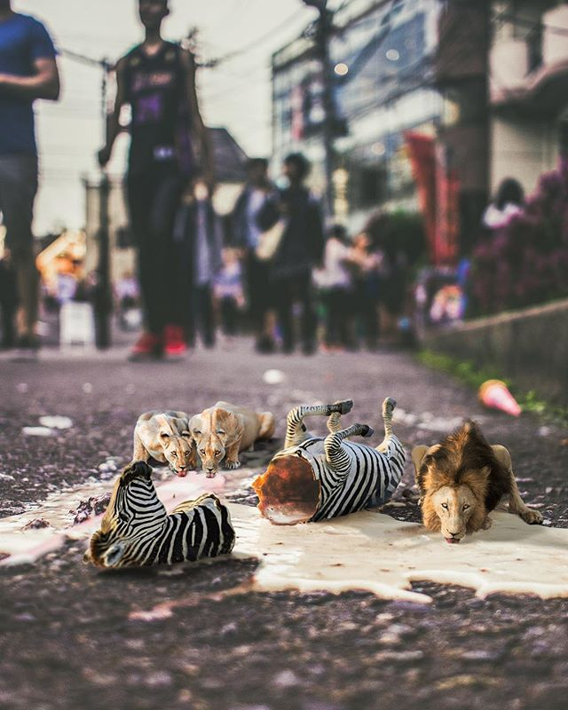 When you'd kill for an ice-cream 🙈🦁🦓🍦 #ig_exquisite #conceptart #thegraphicspr0ject #edit_perfection #awesome_surreal #theuniversalart #artistsoninstagram #artistsofinstagram #artist #arte #conceptual #design #graphicdesign #igmasters #ig_masterpiece #instacool #instagood #instadaily #colour #conceptualphotography #fubiz #agameoftones #photoshop #ps_eerie #instamood #vsco #creartmood #thecreatorclass #instaart #surrealism